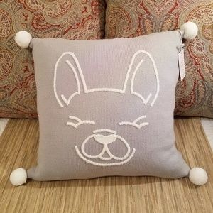 Frenchie Bulldog Knit Pillow